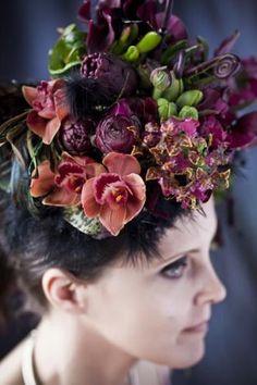 burgundy headpiece 6, Françoise Weeks
