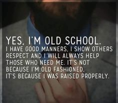 So true for me! I love this, I'm so old school and I love it