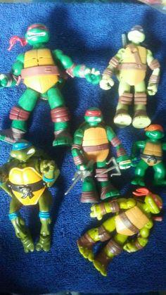 teenage mutant ninja turtles action figures, tmnt action figures, tmnt, ninja  #PlaymatesToys