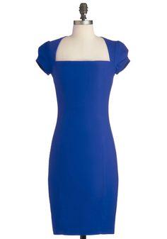 Sleek It Out Dress in Cobalt