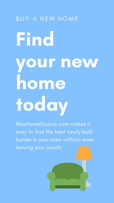 NewHomeSource makes it easy to find the best newly built homes in your area without even leaving your couch. #newhomelistings #homesforsale Home Buying Process, Buying A New Home, New Home Communities, New Homes For Sale, Home Builders, Finding Yourself, Couch, Learning, Easy