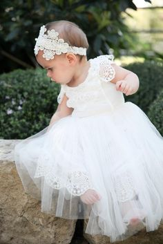 dc96f14240 Tulle Baby Christening dress