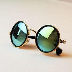 New Fashion glasses Women men Fashion retro roundness colours Sunglasses summer 7 colors glasses