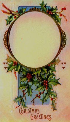 Vintage Christmas Frame: