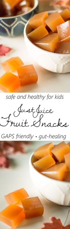 Healthy and safe homemade fruit snacks made with just fruit juice and real gelatin! Good for the gut and helps heal the digestive lining!
