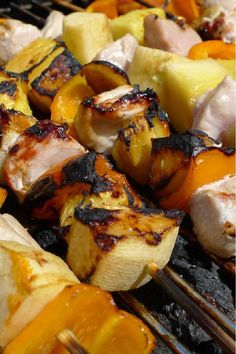 Pork and Pineapple Kebabs with Cilantro Rice #Recipe