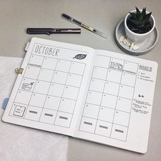 Monthly layout