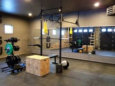 Pretty solid Rogue garage gym CrossFit set up #CrossFit