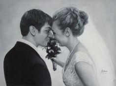WeddingPortraits | WeddingPaintings | Bridal Portraits #wedding #weddingportrait #paint #painting #paintyourlife