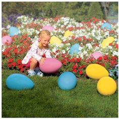Make sure to pick up one of our most popular Easter items: The Giant Plastic Egg! Get a discount the more you buy decorating photoshoot Easter Décor – Easter Eggs & More – Miles Kimball Large Plastic Easter Eggs, Giant Easter Eggs, Easter Activities For Kids, Easter Specials, Diy Ostern, Easter Pictures, Easter Crafts, Easter Ideas, Easter Decor