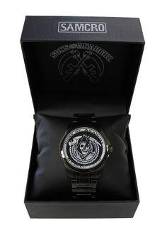 BikerOrNot Store - Sons of Anarchy Black Reaper Crew Watch, $89.97 (http://store.bikerornot.com/sons-of-anarchy-black-reaper-crew-watch/)