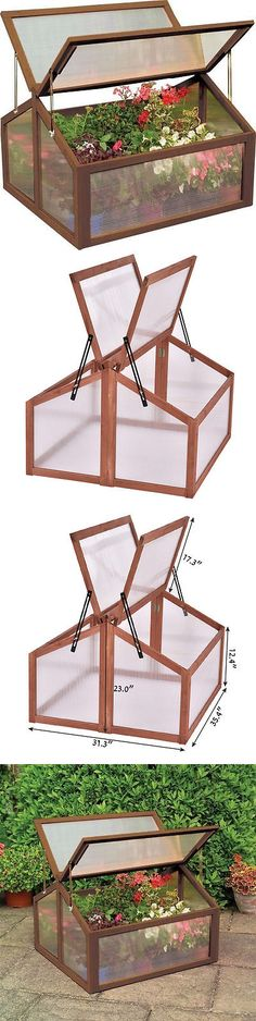 Greenhouses and Cold Frames 139939: Double Box Garden Wooden Green House Cold Frame Raised Plants Bed Protection New -> BUY IT NOW ONLY: $55.99 on eBay!