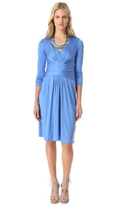 ISSA Long Sleeve Wrap Dress - The Kate Middleton engagement dress in a lighter blue