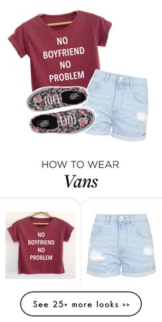 """go follow..."" by your-best-friend on Polyvore featuring Topshop and Vans"