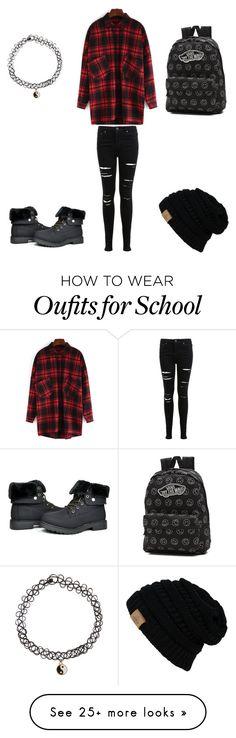"""Going to school #punk"" by adorablezach on Polyvore featuring mode, Miss Selfridge, Vans et Accessorize"