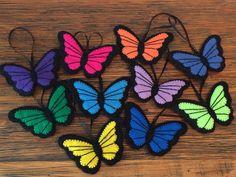 Butterfly Ornament Felt Ornament Colorful Felt by KJWcrafts
