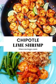 This spicy Chipotle Lime Shrimp takes just 10 minutes to make and cooks together in one skillet. A no-fuss dish that packs a huge flavor-punch! Ww Recipes, Fish Recipes, Seafood Recipes, Mexican Food Recipes, Dinner Recipes, Cooking Recipes, Healthy Recipes, Chipotle, Seafood Dishes