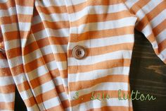 make a cardigan out of a too-small shirt