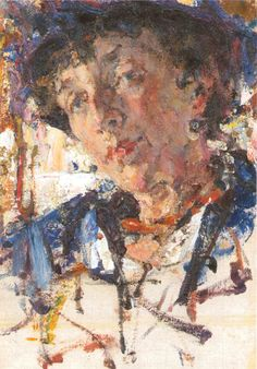 Portrait of E. Alekseeva by Nicolai Fechin. Russian Painting, Russian Art, Figure Painting, Painting & Drawing, Russian American, Nicolai Fechin, Soviet Art, Impressionist Artists, Artist Sketchbook