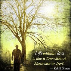 kahlil gibran quote on life without love