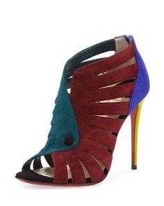 Toot Mignonne Colorblock Red Sole Sandal, Multi