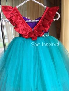 fe2b22e44f8e2 Ariel disney inspirado Vestido de sirena vestido poco   ariel