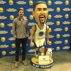 Klay Thompson & Rocco 2016 Golden State Warriors