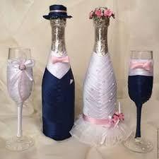 Resultado de imagen de свадебная бутылка декоративная Bridal Wine Glasses, Wedding Glasses, Bottle Art, Bottle Crafts, Wedding Gift Baskets, Bottles And Jars, Beer Bottles, Wedding Bottles, Wedding Crafts