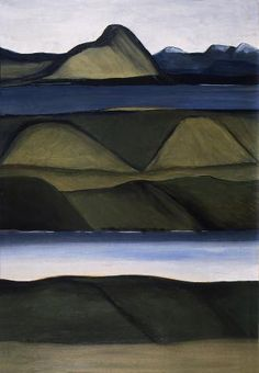 [Three Otago Landscapes: Cover design for The Shell Guide to New Zealand edited by Maurice Shadbolt], Colin McCahon Nz Art, Art For Art Sake, Abstract Landscape, Landscape Paintings, Landscapes, New Zealand Landscape, New Zealand Art, Soul Art, Arts Ed