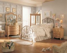 Fabulous and Fantastic Vintage Bed Room Interior with Bright and Beautiful Appearance Pictures