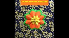 Paper Flower Origami Tutorial for Home deco - Paper Craft