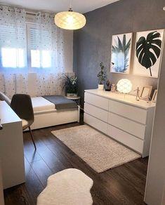 Room Ideas Bedroom, Small Room Bedroom, Cozy Bedroom, Bedroom Furniture, Small Bedroom Ideas For Teens, Master Bedroom, Small Bedroom Designs, Scandi Bedroom, Girls Bedroom