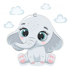 Discover thousands of Premium vectors available in AI and EPS formats Cute Baby Owl, Cute Hippo, Cute Baby Elephant, Baby Elephants, Elephant Quilt, Elephant Art, Elephant Nursery, Indian Elephant, Baby Animal Drawings