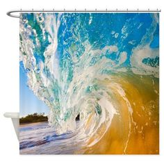 Ocean Waves Shower Curtain on CafePress.com