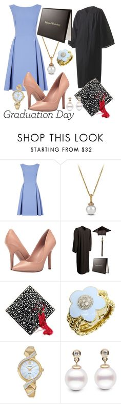 """""""Grad Girl!!!"""" by mary63348-1 ❤ liked on Polyvore featuring David Yurman, Charles by Charles David, Pasquale Bruni and Seiko Watches"""
