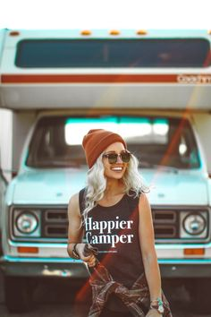 The Parks Happier Camper Muscle Tank - The Parks Apparel