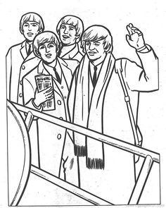 beatles coloring pages 1 - Beatles Coloring Book