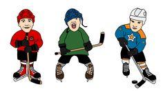 illustration icehockey @ Stina Tuominen