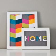 Create colorful, modern die cut wall art with this tutorial and free, downloadable templates.