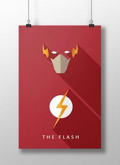 Flat Design e personagens da cultura pop nos pôsteres de Moritz Adam Schmitt… Flat Design, Heros Disney, Flash Wallpaper, Hero Poster, Design Comics, Kid Flash, Flash Art, Wally West, Comic Games