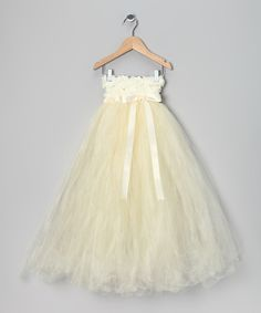 Love this Ivory Flower Girl Tutu Dress by Enchanted Fairyware Couture on #zulily! #zulilyfinds