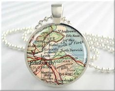 Or this gorgeous vintage map pendant.