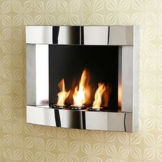 Stainless Steel Wall Mount Fireplace at HSN.com.