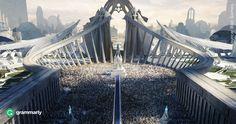League of Legends - Demacia - Grand Plaza Fantasy City, Fantasy Castle, Fantasy Places, Fantasy Kunst, Medieval Fantasy, Sci Fi Fantasy, Fantasy World, League Of Legends, Concept Art World