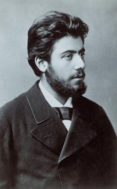 Gustav Mahler, age 25. Serious looking dude. Moody powerful music.