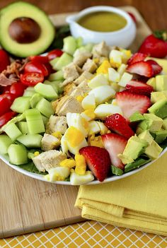 California Cobb with Tarragon Dressing + 4 other delicious recipes in this week's spring meal plan | Rainbow Delicious
