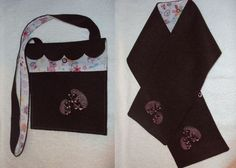 Burel Bag and Scarf with Hedgehogs for children