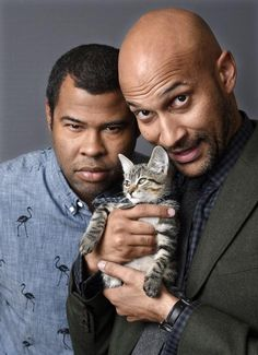 """Combine one cute kitten, some George Michael R&B and the humor of Keegan-Michael Key and Jordan Peele and you have the recipe for """"Keanu,"""" opening in theaters today. George Michael, Michael Key, Jordan Peele, Comedy Duos, Great Comedies, I Love To Laugh, The Funny, Funny Men, Man Humor"""