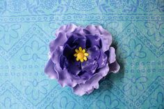 fondant flowers 6 edible purple ombre cake cupcake cake toppers decorations sweet 16 wedding party birthday christening rose anniversary by InscribingLives (24.99 USD) http://ift.tt/1OJT7OD