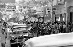 Calle Del Conde, Banda de la policía. Santo Domingo año 1973, República Dominicana.